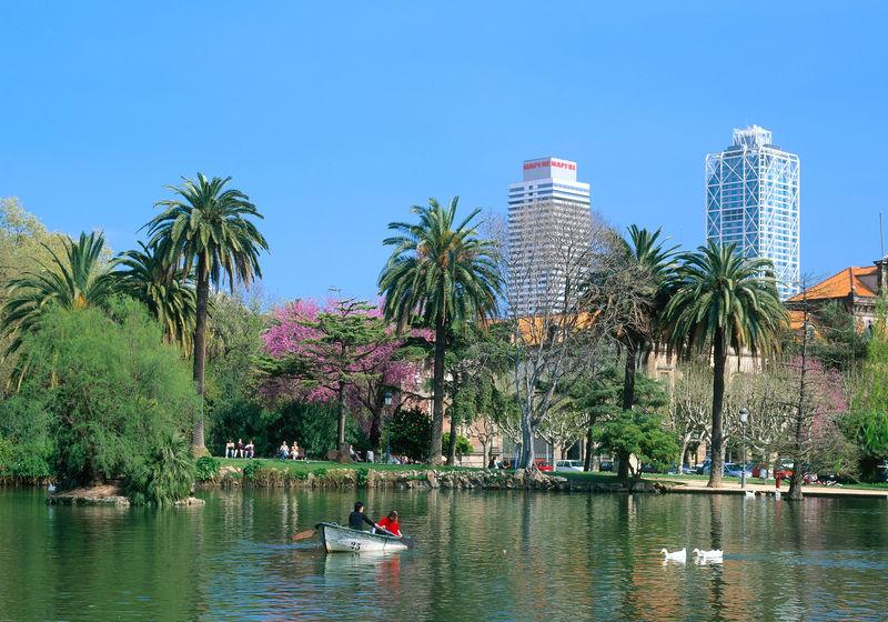 Parc de la Ciutadella im Frühling, Barcelona, Katalonien, Spanien